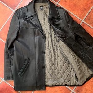 DKNY Leather Bomber
